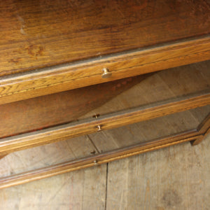 Vintage Oak Barristers Glazed Bookcase – 1110a