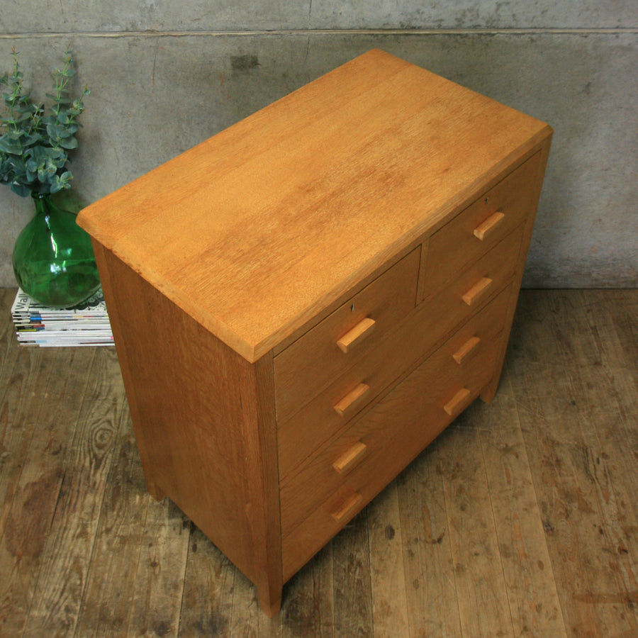 vintage_rustic_oak_chest_of_drawers
