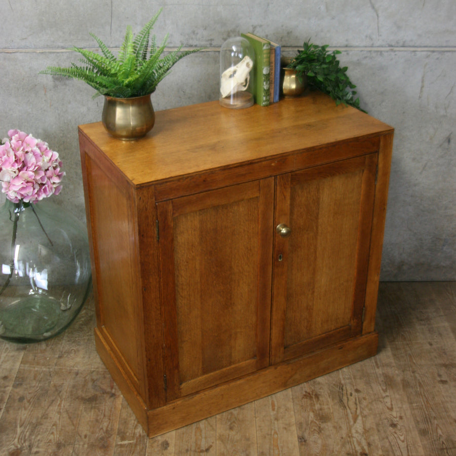 Rustic Oak Storage Cupboard
