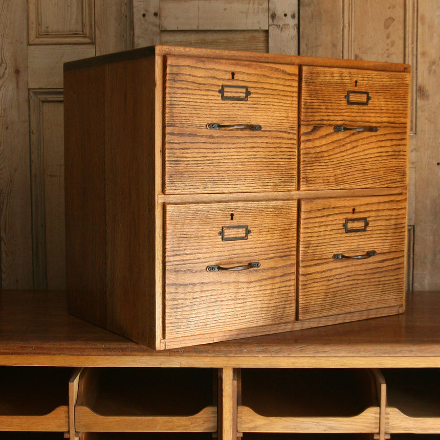 Vintage Oak Filing Drawers