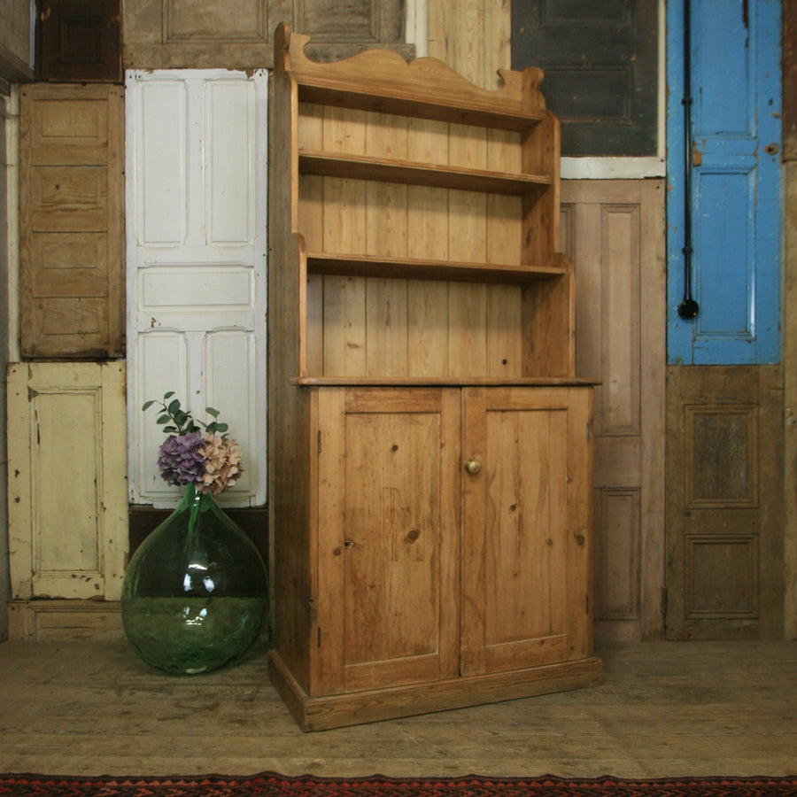 vintage_rustic_pine_waterfall_dresser_kitchen_cupboard