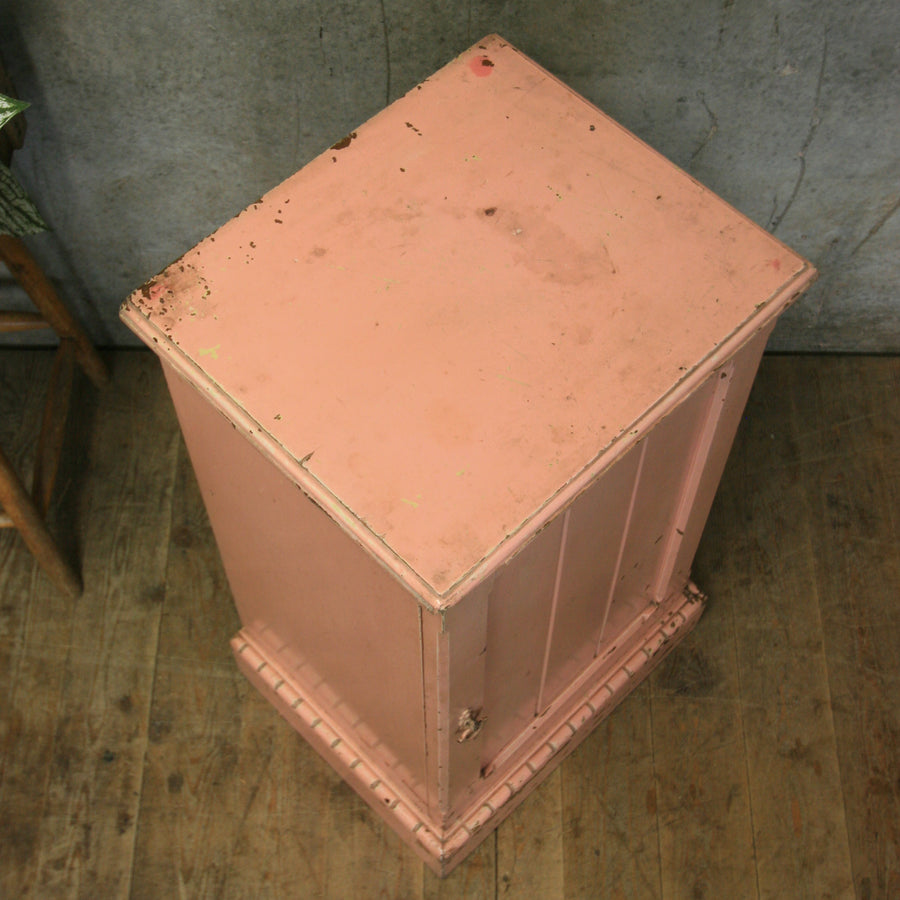 Small Rustic Pink Painted Storage Cupboard #0712