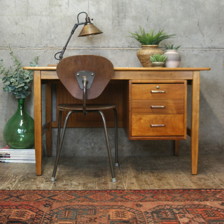 vintage_rustic_school_teachers_desk_beech