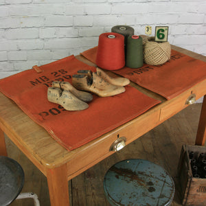 Vintage Industrial School Desk Table Shop Display