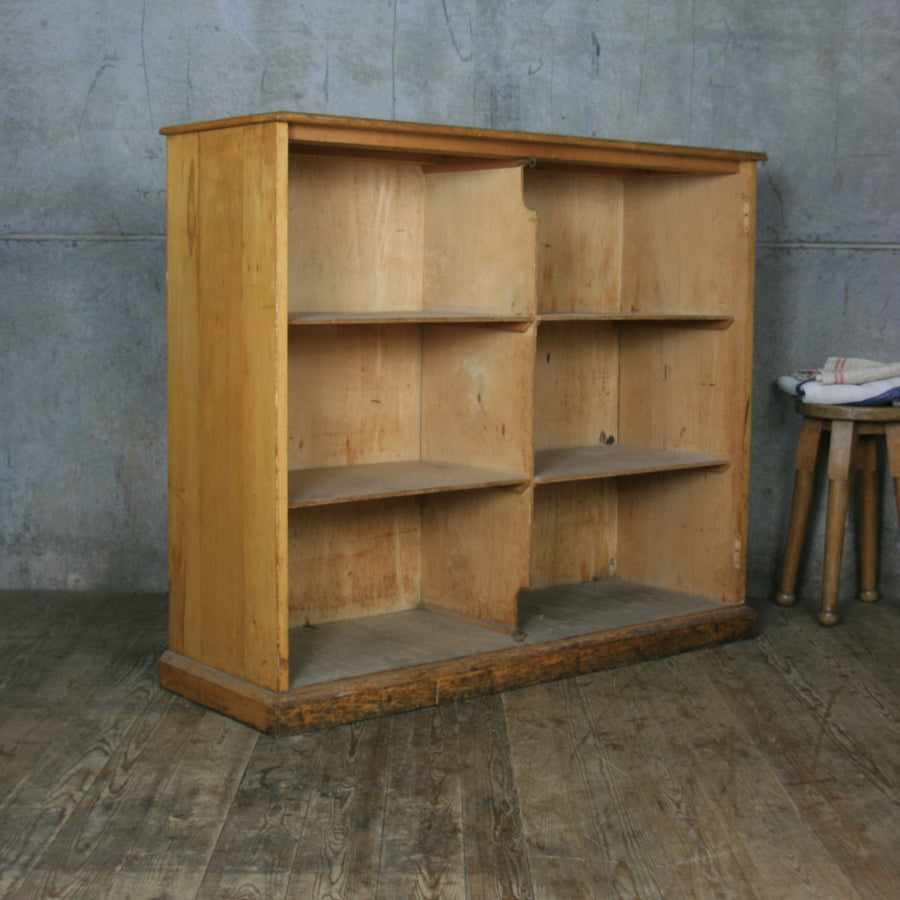 Vintage Oak Shelving Retail Display
