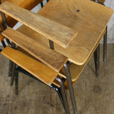 X3 Vintage School Stacking / Desk Chair - ADULT SIZE