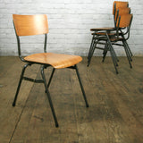 4 x Vintage Industrial School Stacking Chairs (last four available)