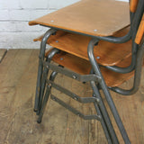 Vintage Industrial School Stacking Chairs (60+ available)