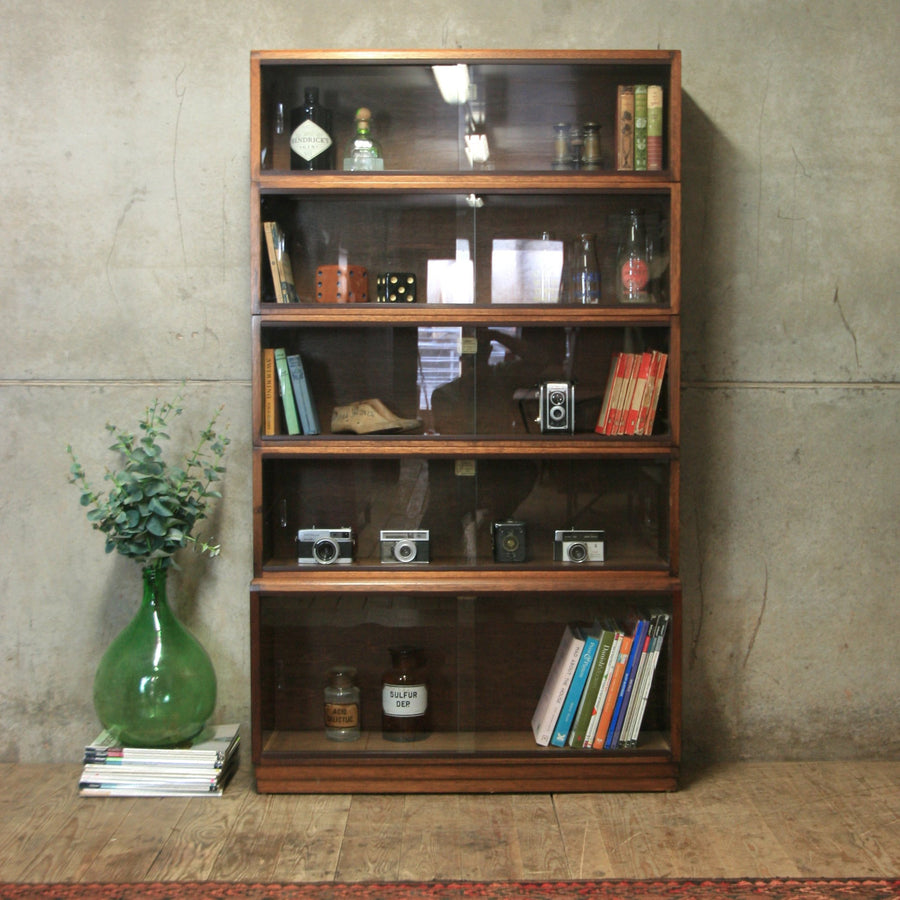 vintage_simplex_sectional_library_bookcase_display_cabinet