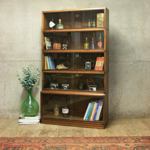 Vintage Simplex Stacking Library Glazed Bookcase – 0919b