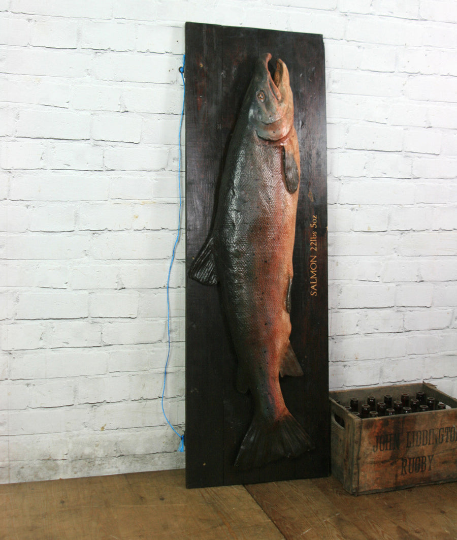 Vintage Plaster Cast Salmon for an Angling fan, Restaurant or Retail Display