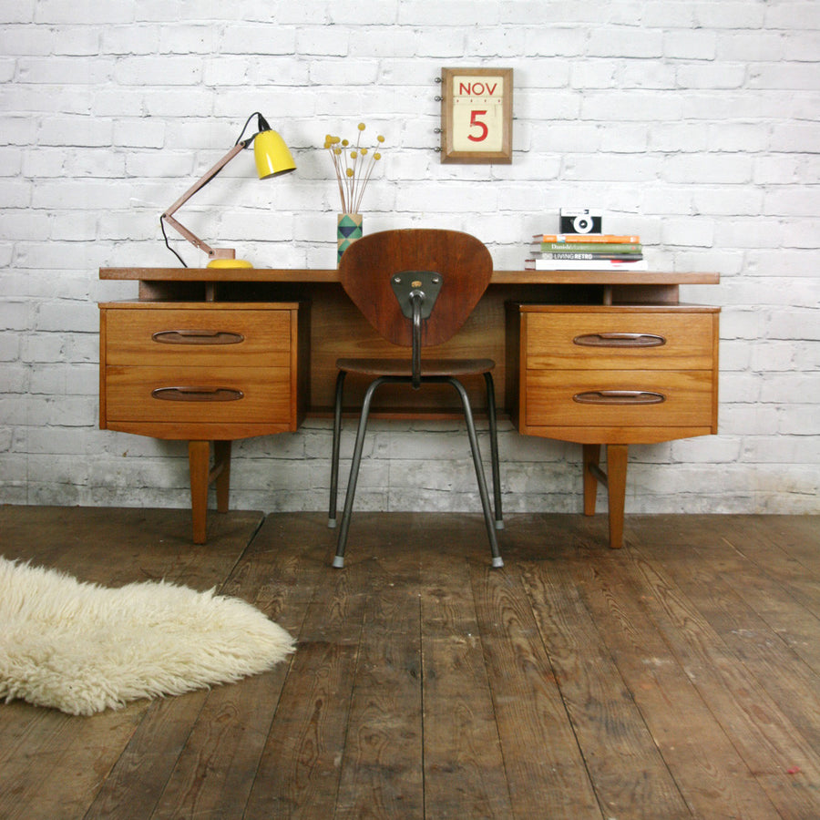 Vintage Mid Century Teak Desk/Dressing Table