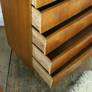 Vintage Austinsuite Teak Tallboy Chest of Drawers