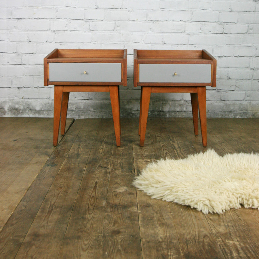 *A Pair* of Mid Century Teak Bedside Tables