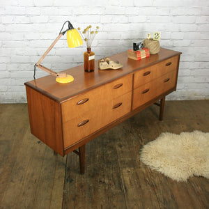 Vintage Teak Lowline Chest of Drawers