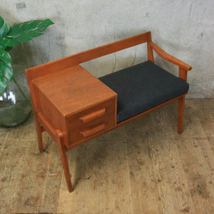 vintage_teak_chippy_heath_telephone_seat_table
