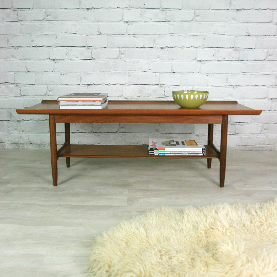 Vintage 1960s Teak Coffee Table – Mustard Vintage