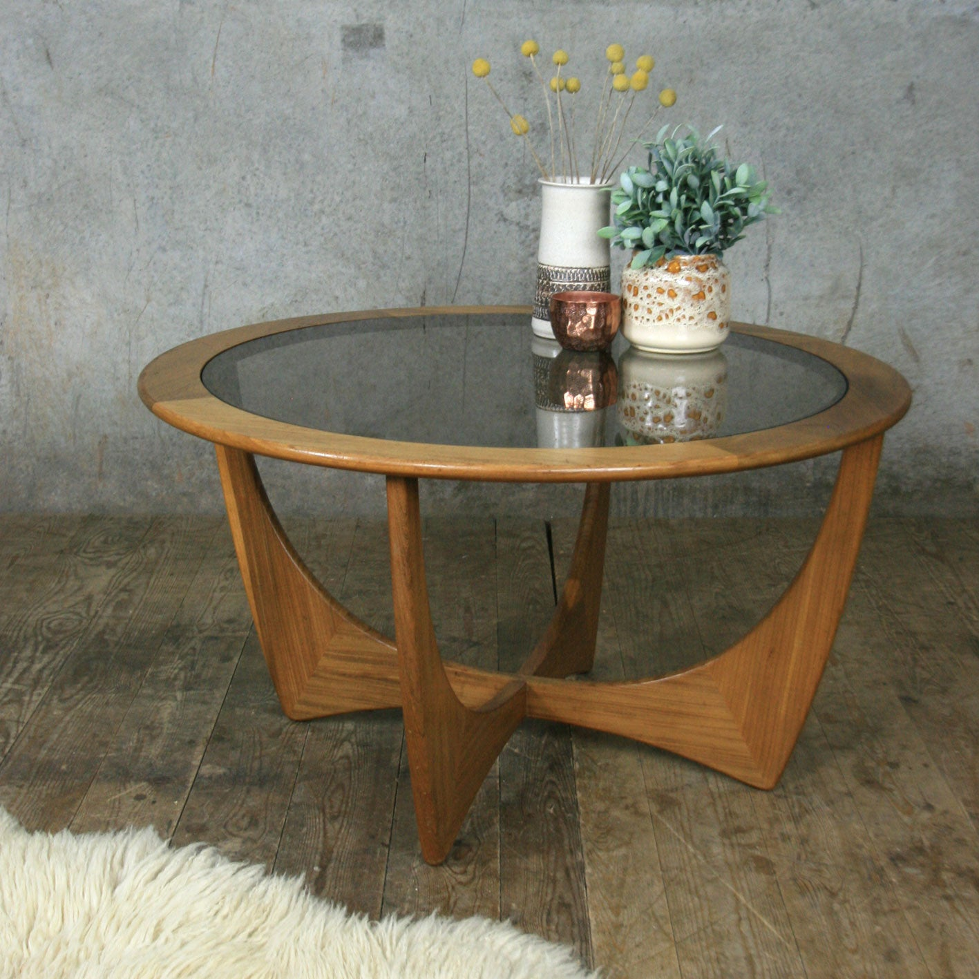 Mid Century Teak G-Plan Astro Coffee Table – Mustard Vintage