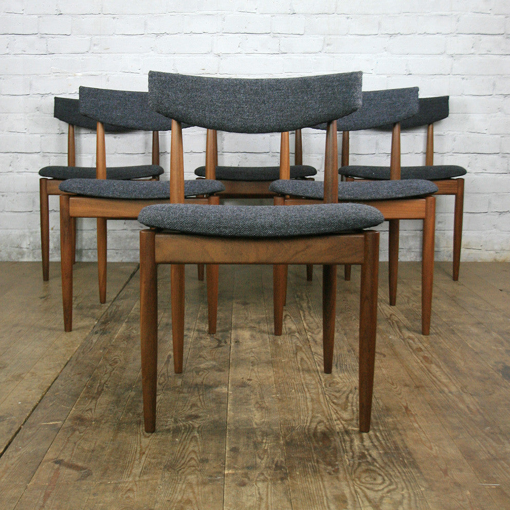 6 vintage g plan dining chairs by kofod larsen mustard for G plan teak dining room chairs