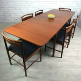 Vintage 1970s McIntosh Teak Extending Dining Table