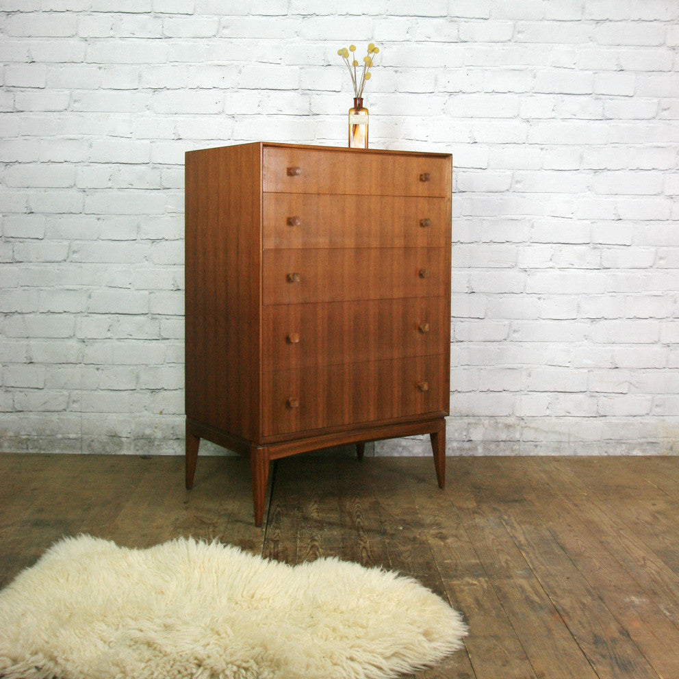 Vintage McIntosh Teak Tallboy Chest of Drawers