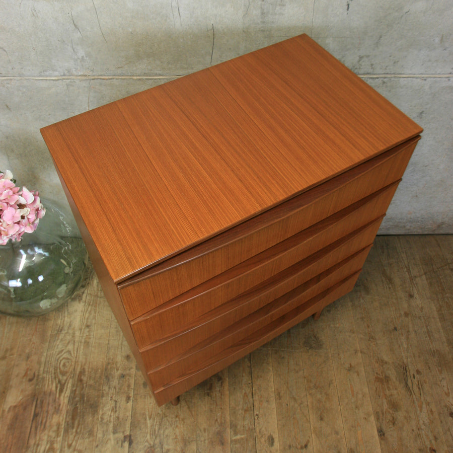Mid Century Tallboy Chest of Drawers #0518