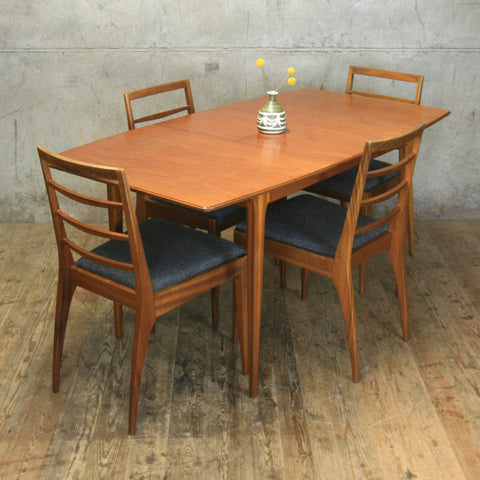 Mid Century McIntosh Teak Extending Table & 4 Chairs