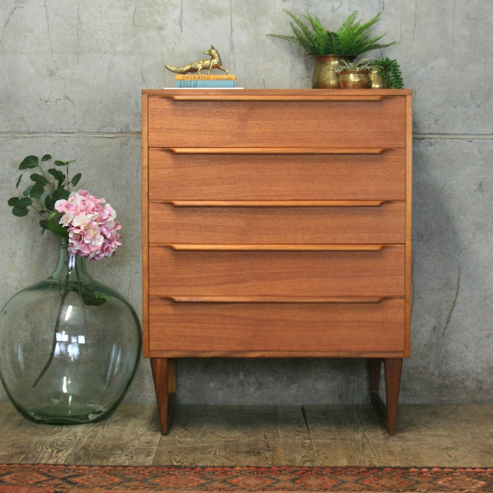 vintage_teak_mid_century_tallboy_chest_of_drawers