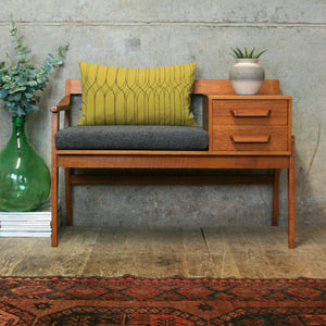 Chippy Heath Teak Telephone Seat - 1311c