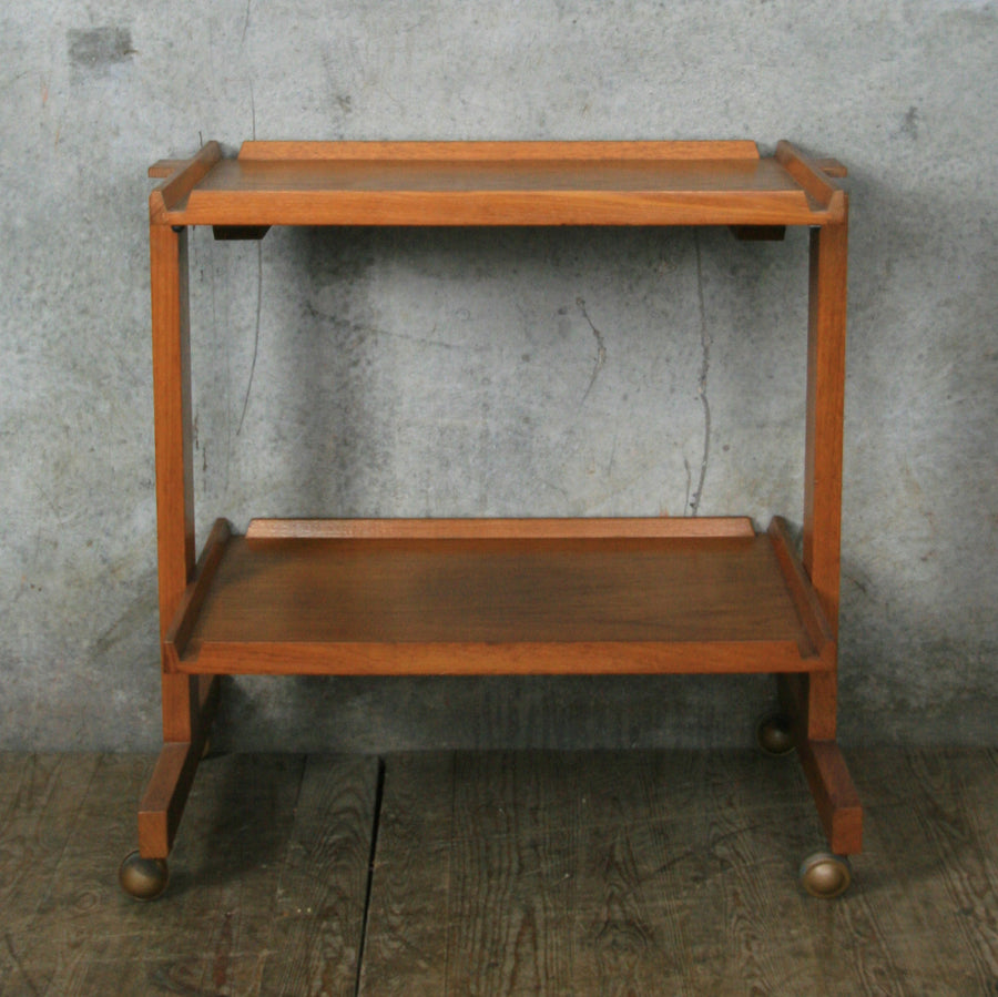 Vintage White & Newton Teak Drinks Trolley Bar