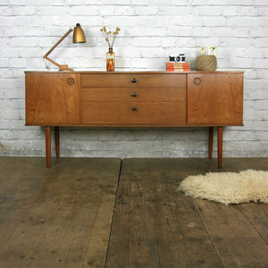 Vintage Avalon Teak Sideboard / Media Cabinet