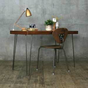 Reclaimed School Desk / Table with Hairpin Legs