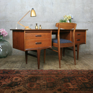 Mid Century Younger Codan Teak Desk / Dressing Table