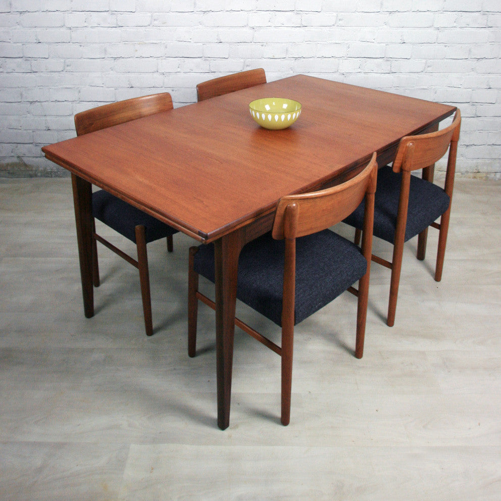 Younger Mid Century Extending Draw Leaf Dining Table