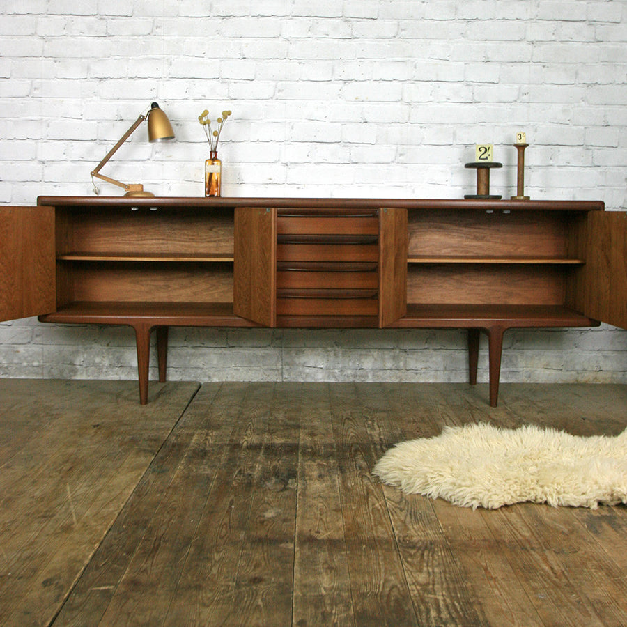 Large Mid Century Teak Sideboard by Younger
