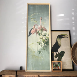 vintage_tropical_flamingos_pastel_pink_grey_picture