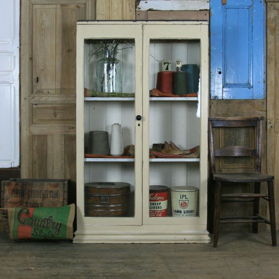 Rustic Victorian Pine Display / Storage Cupboard