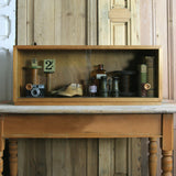 Mid Century Walnut Glazed Shop Display Cabinet