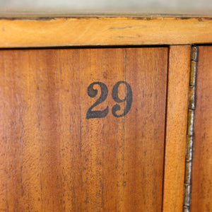Vintage School Wooden Lockers - 2101c