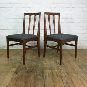 Set of Six Younger 1960s Afromosia Dining Chairs