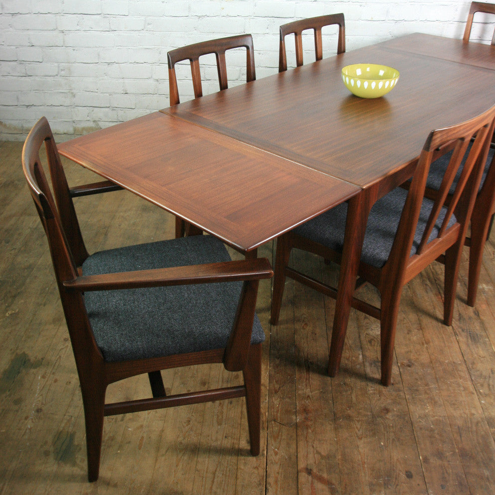 For Jolene Vintage Younger Fonseca Extending Dining Table 6 X Di Mustard Vintage