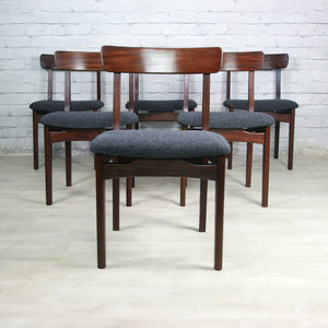 Set of Six 1960s Younger Afromosia Dining Chairs