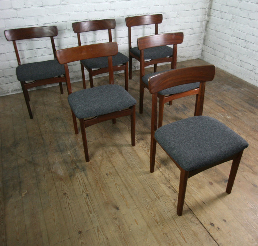 Six 1960s Younger Afromosia Dining Chairs