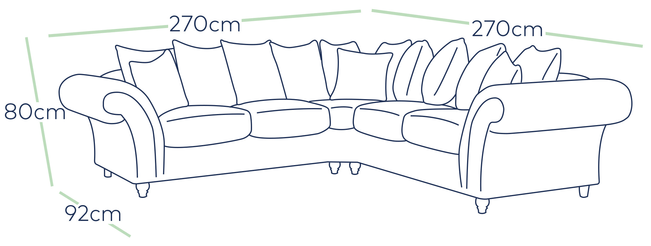 The Windsor Cheap Fabric Double Corner Sofa