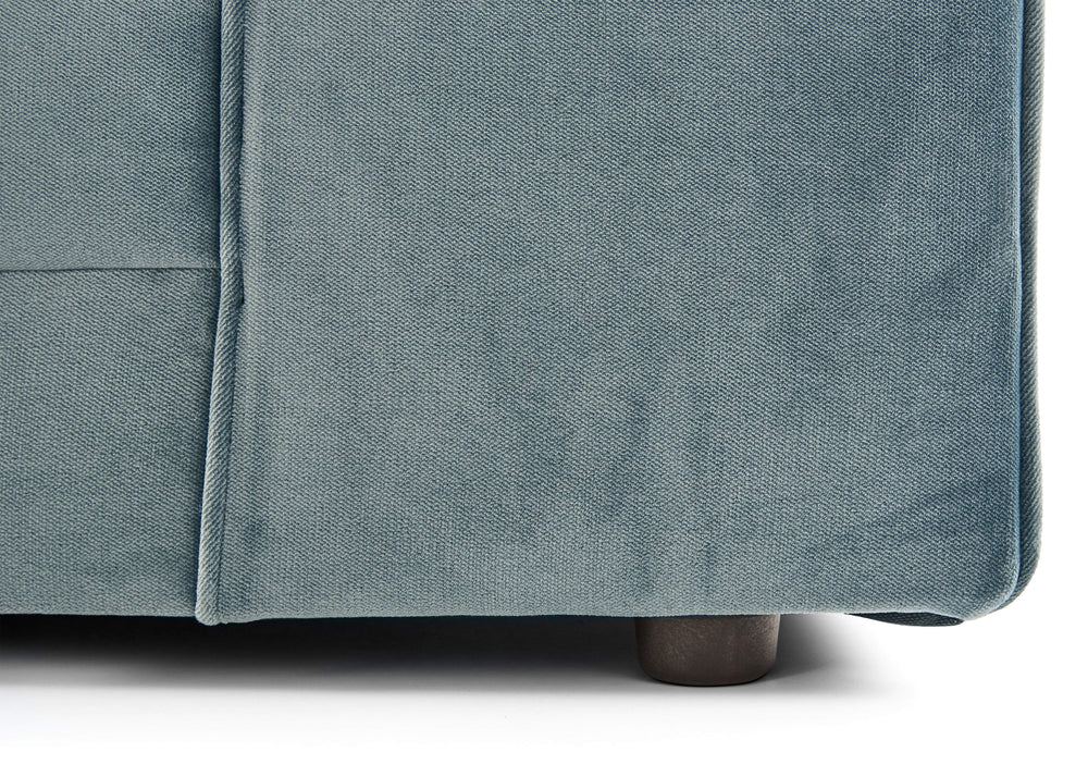 CHELSEA LUXE VELVET DOUBLE CORNER SOFA - SHADES OF GREY
