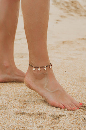 'Summer Days' 18kt Gold Plated Beaded Anklet