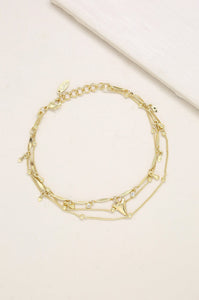 Delicate Chain & Shark Tooth Anklet