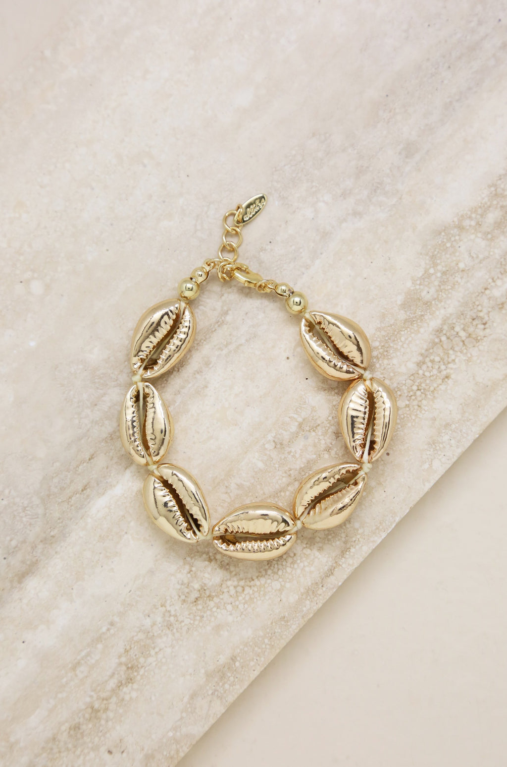 'Seven Seas' Gold Shell Bracelet