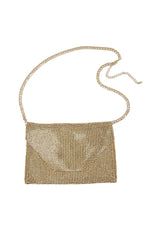 Shimmer Night Out Fanny Pack with Gold Tone Chain