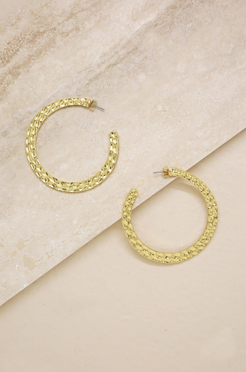 Hammered Gold Hoops